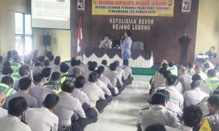 Polres Rejang Lebong Paling Siap se-Polda Bengkulu Dalam Pengamanan Pemilu 2019