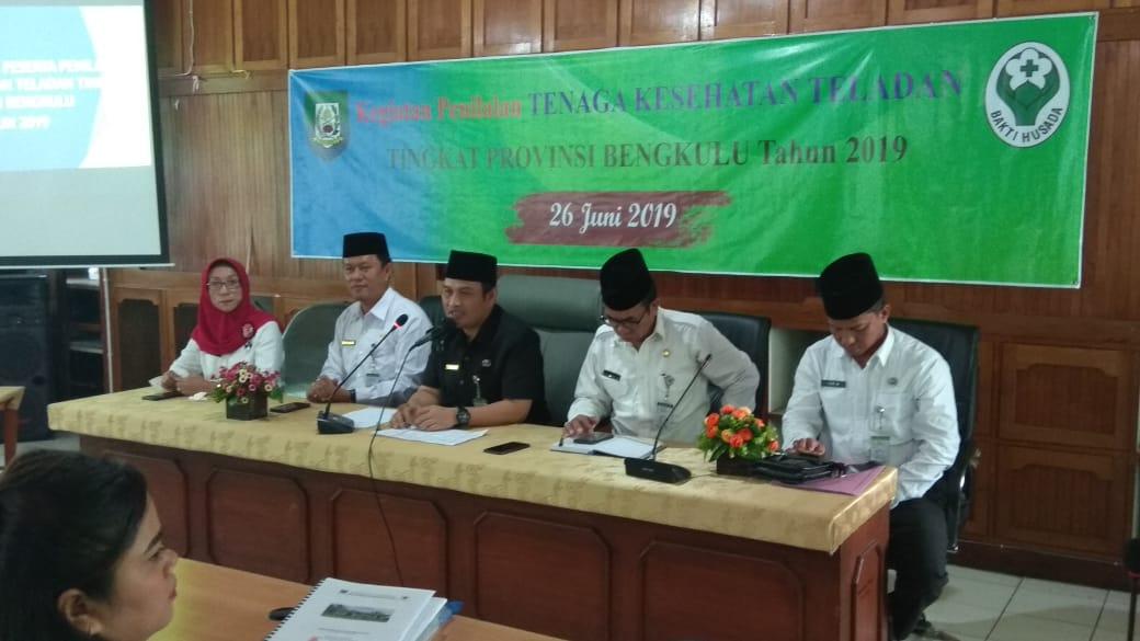 Dinkes Provinsi Bengkulu Adakan Kegiatan Penilaian Tenaga Kesehatan Teladan