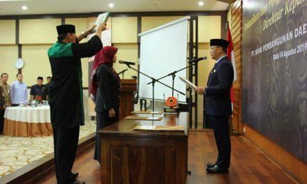 Gubernur Lantik Direktur Kepatuhan Bank Bengkulu