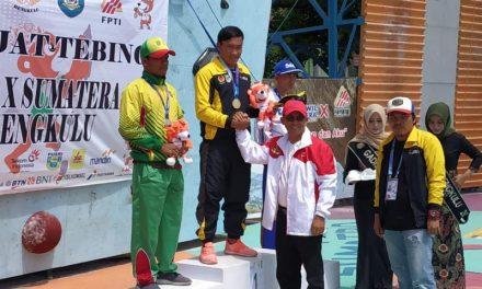 Hasil Kerja Keras Bengkulu Boyong Medali emas Cabor Panjat Tebing