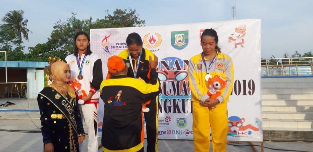 sofie Kemala Perenang Bengkulu Berhasil Boyong Medali Emas